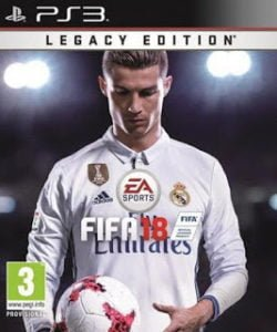 capa FIFA 18 PS3 Legacy Edition 2018