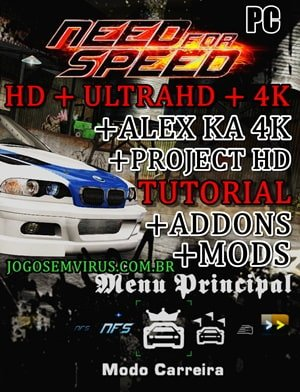 NFSMW Black Edition PC Pt-Br textura ultraHD